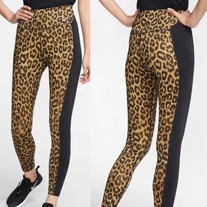 Nike Leopard Tights NWT
